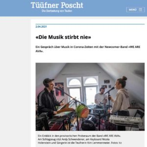21.04.02 Tüüfner Post, die Musik stirbt nie, Timo Züst, WE ARE AVA